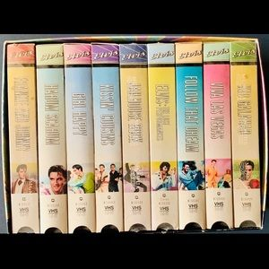 NINE Elvis VHS tape box set!